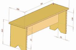 Схема скамейки из фанеры