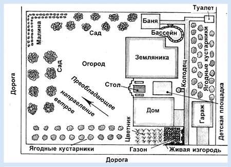 План участка с баней