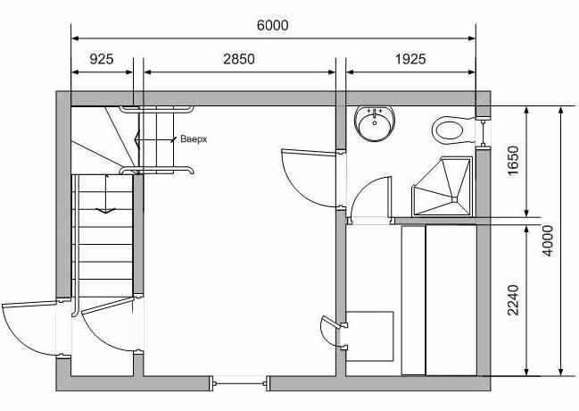 Примерный план бани