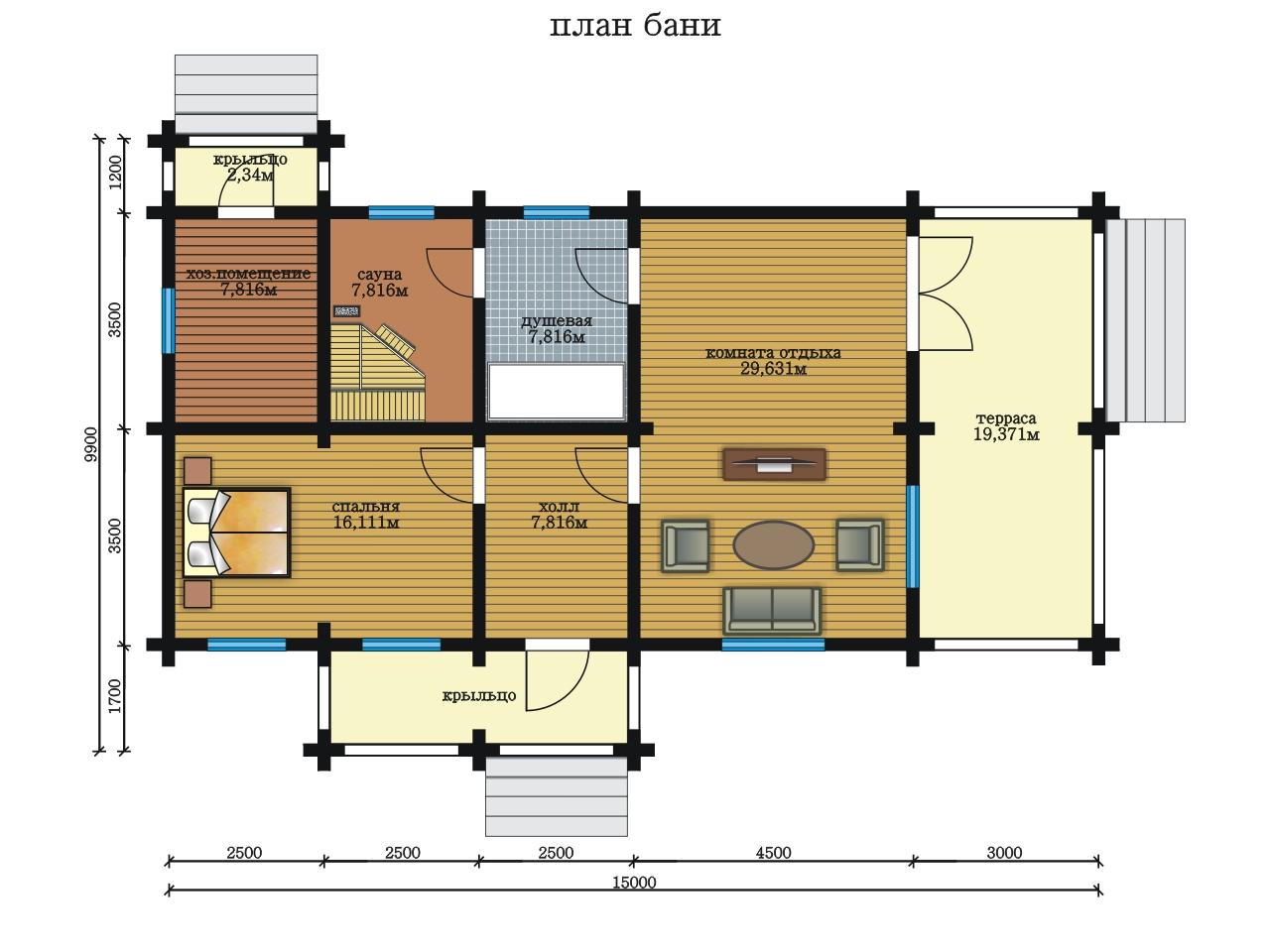 План-проект бани